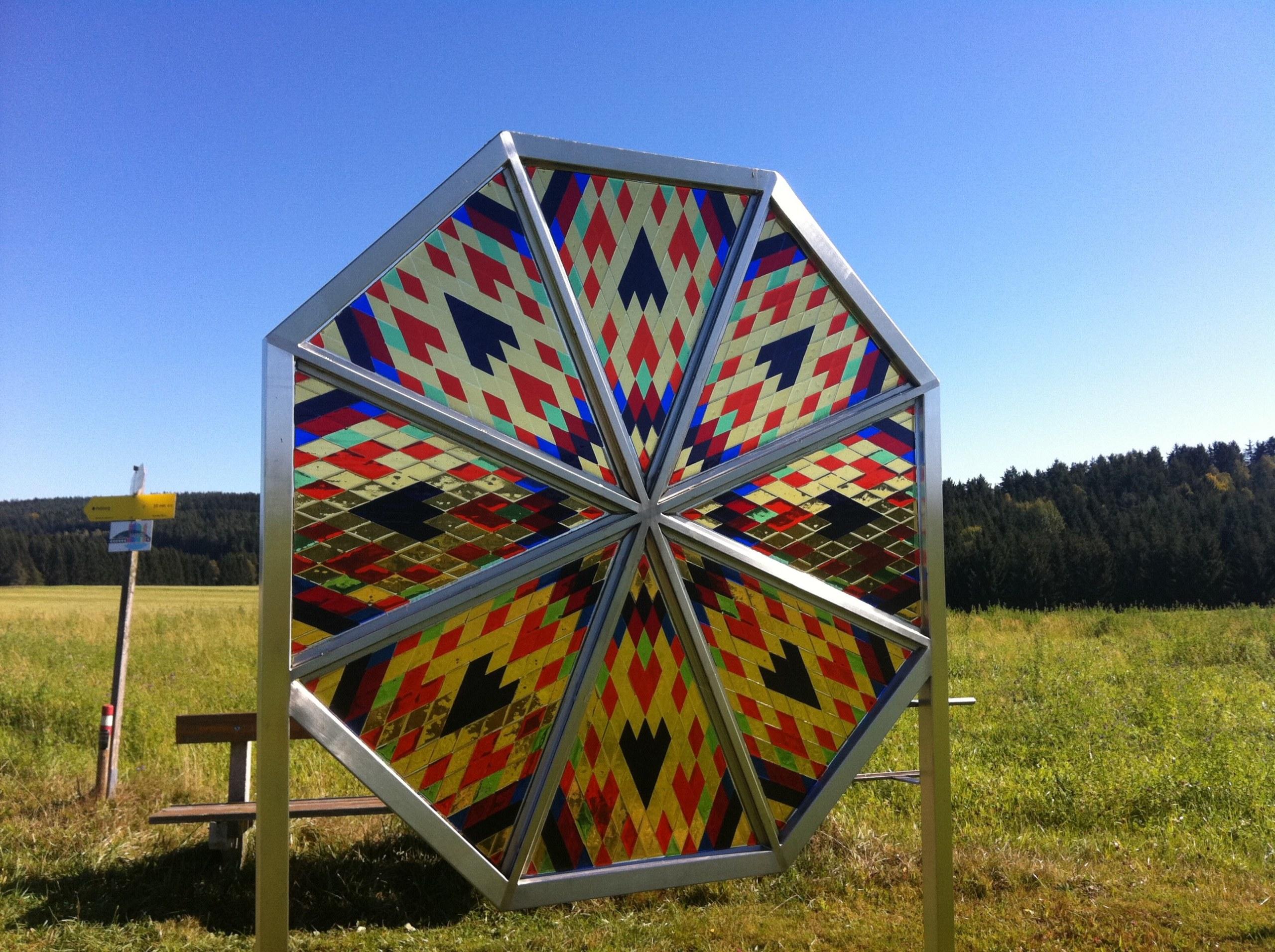 Glasmandala Wanderweg der Farben