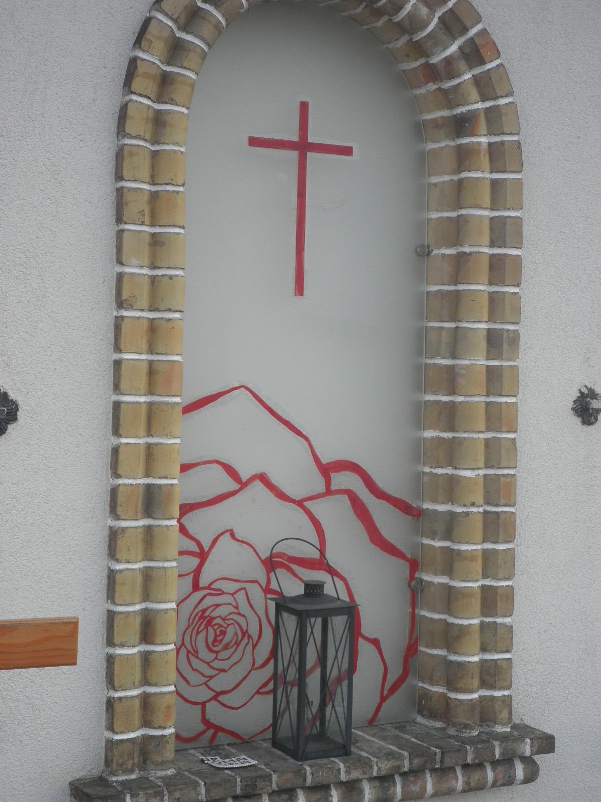 Grabstein Glasmalerei